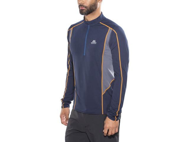 Mountain Equipment Ignis Camiseta manga larga con cremallera Hombre, azul